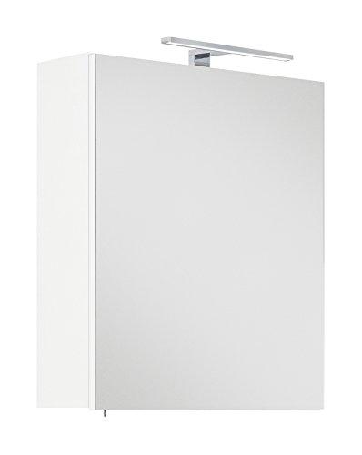 Posseik Badmöbelserie VIVA Spiegelschrank 55 inkl. Stromdose & Licht (B/H/T) 55/62/16,6cm eintürig