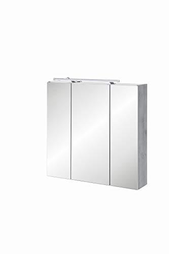 Schildmeyer 127398 Spiegelschrank, 70 x75 x 16 cm, steingrau
