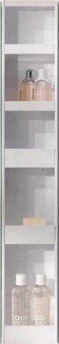 simple..*M* 4001070101884 Badspiegel-Drehschrank, 15 x 20 x 95 cm, metall, weiß