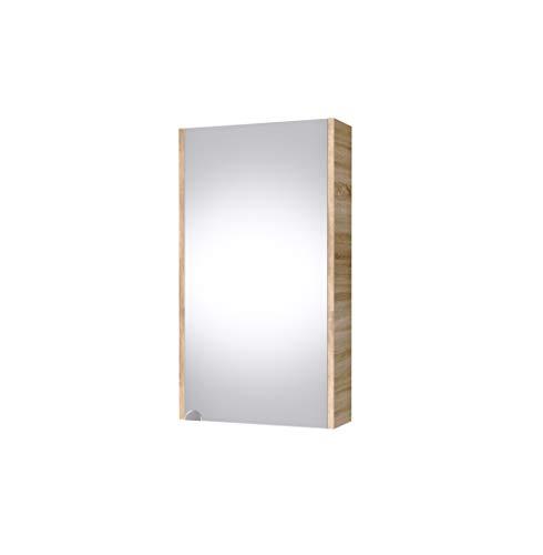 Planetmöbel Spiegelschrank 40cm Gäste Bad WC (Sonoma Eiche)