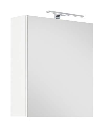 emotion Spiegelschrank Viva 60 Weiss inkl. LED-Lampe