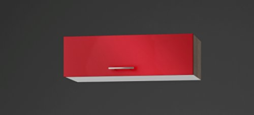 idealShopping GmbH Klappenhängeschrank OK135-9 in rot glänzend