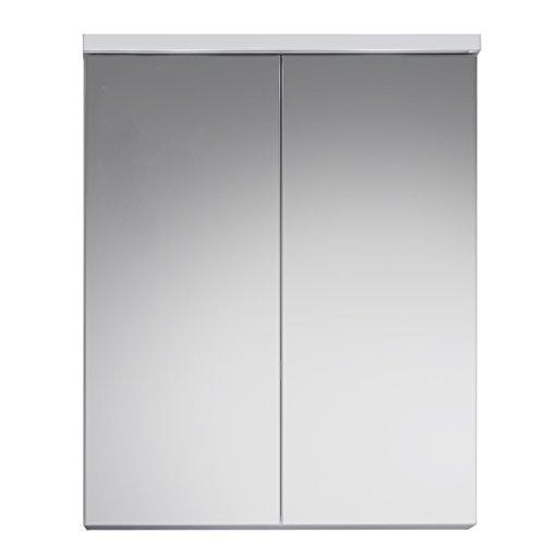 trendteam Badezimmer Spiegelschrank Spiegel Nightlife, 65 x 80 x 21 cm in Weiß mit viel Stauraum