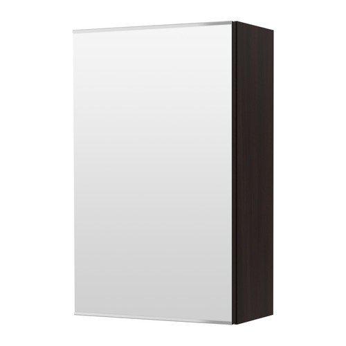 IKEA LILLANGEN -Spiegelschrank mit 1 Tür schwarz-braun - 40x21x64 cm