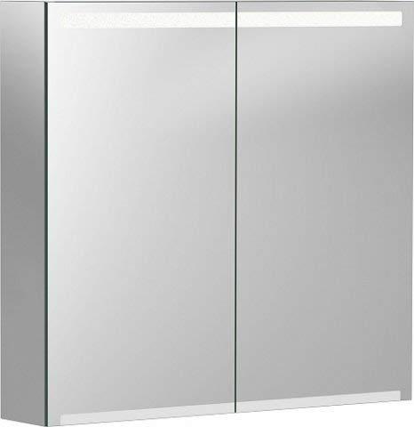 Keramag Geberit Option Spiegelschrank mit Beleuchtung, Zwei Türen, Breite 75 cm, 500205001