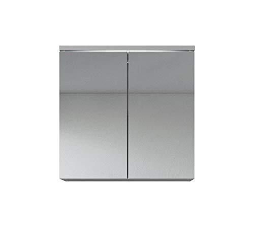 Badezimmer Spiegelschrank Toledo 60 cm Weiß – Stauraum Unterschrank Möbel zwei Türen …