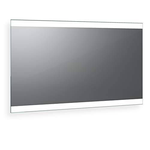 Spiegel ID dein.Spiegel.online Noemi 2019 Design: LED BADSPIEGEL mit Beleuchtung - Made in Germany - individuell nach Maß - Auswahl: (Breite) 120 cm x (Höhe) 60 cm
