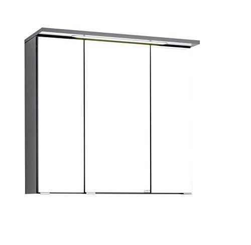 Wohnorama Spiegelschrank 70 inkl LED Einbauleuchte Bologna von Held Möbel Graphit by