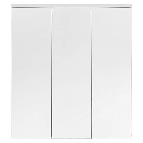 trendteam smart living Badezimmer Spiegelschrank Spiegel Summer, 70 x 78 x 15 cm in Korpus Weiß Melamin ohne Beleuchtung