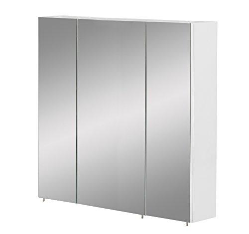 Schildmeyer Basic Spiegelschrank, Melaminharzbeschichtete, Weiß, 80 cm