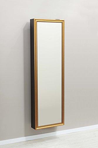 Schuhschrank SCHUH-BERT 500 STRAIGHT GOLD drehbarer Spiegelschuhschrank Spiegel schwarz Höhe 150cm