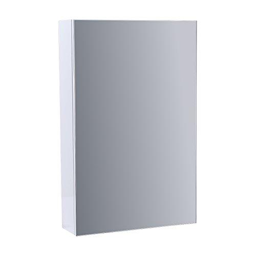 ENKI Badezimmer Spiegel Schrank 400 mm weiß glänzend HORIZON