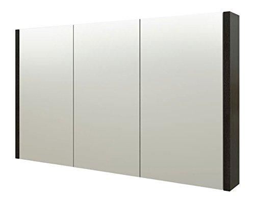 Bad - Spiegelschrank Bidar 29, Farbe: Eiche Schwarz - 65 x 110 x 12 cm (H x B x T)