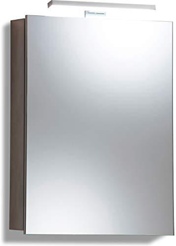 LED beleuchteter Badezimmer Spiegelschrank (Tageslichtweiß bei 6500K) TÜV geprüft mit Antibeschlag-Pad ohne sichtbare Kabel, Steckdose, Sensor-Schalter und LED-Lichter 70cm x 50cm x15cm (HxBxT) C25