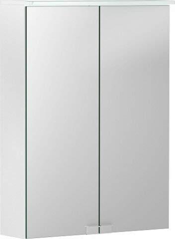 Geberit Option Basic Spiegelschrank mit Beleuchtung, Zwei Türen, Breite 50cm, 500257001-500.257.00.1