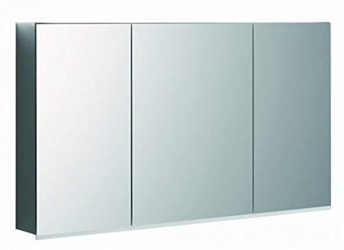Keramag Geberit Option Plus Spiegelschrank mit Beleuchtung, DREI Türen, Breite 120 cm, 500592001-500.592.00.1