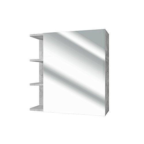 VICCO Spiegelschrank FYNN 62 cm Beton-Grau - Spiegel Hängespiegel Badspiegel