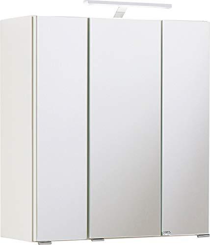Held Möbel Portofino Spiegelschrank, Weiß, 60 x 66 x 20 cm
