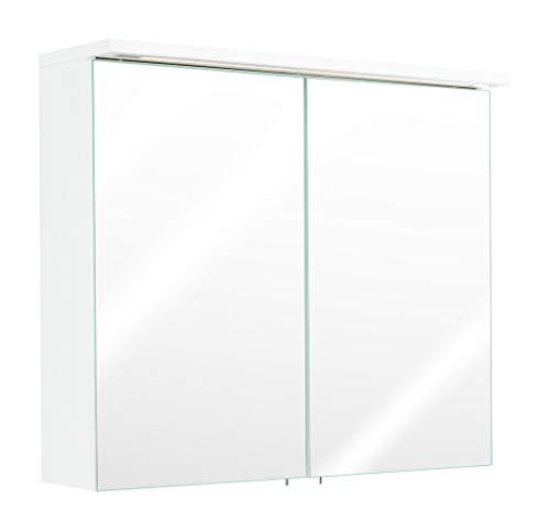 Emotion Spiegelschrank 75x64,4x16,6cm mit integrierter LED Lichtleiste weiß Hochglanz