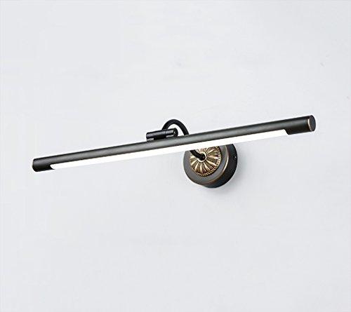 William 337 Schwarz LED Kupfer Spiegel Frontleuchte Wasserdicht Nebel Energiespar Badezimmer Wandleuchte Spiegelschrank Make-up Lampe (größe : 45 cm)