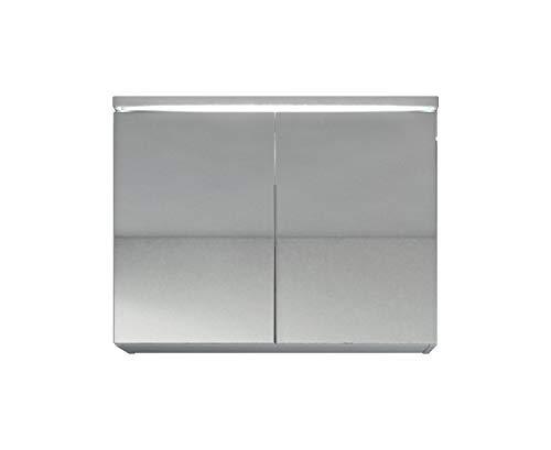 Spiegelschrank Paso 80 cm Weiß - Schrank Spiegelschrank Spiegel Badezimmer Badmöbel Hängeschrank