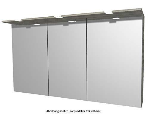 PELIPAL 6025 Spiegelschrank inkl. LED Kranz/SPS 04 / Comfort N/B: 132 cm