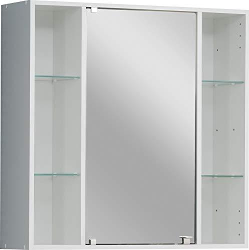 FACKELMANN Spiegelschrank Standard/Badschrank TREND65 / Maße (B x H x T): ca. 65 x 66 x 20 cm/Schrank fürs Bad/Möbel fürs WC oder Badezimmer/Korpus: Weiß/Front: Weiß/Breite 65 cm