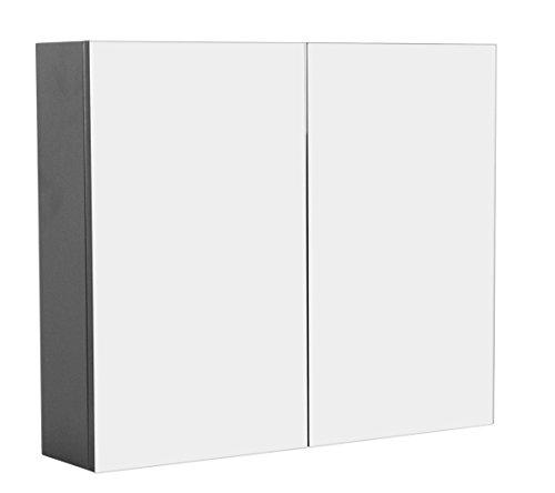 Emotion Spiegelschrank Basis (B/H) 75x62cm anthrazit seidenglanz