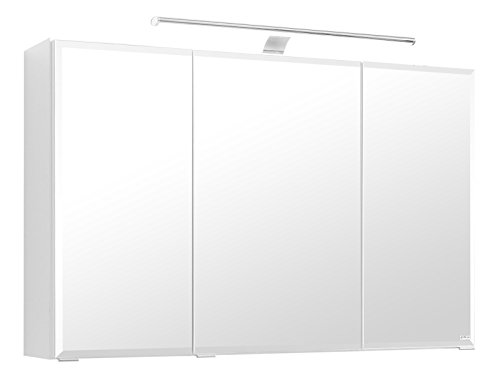 """3D-Spiegelschrank Badspiegel Badhängeschrank Spiegel """"Delhi I"""" (100 cm, weiß)"""