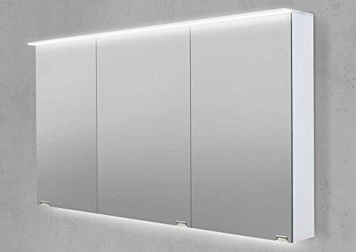 Intarbad Spiegelschrank 130 cm LED Acryl Lichtplatte doppelt verspiegelt