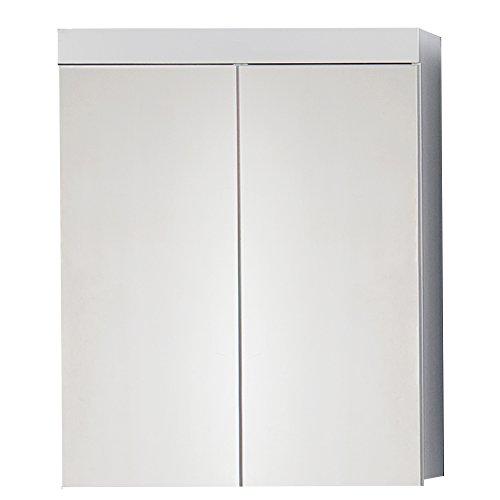 trendteam smart living Badezimmer Spiegelschrank Spiegel Amanda, 60 x 77 x 17 cm in Weiß Hochglanz ohne Beleuchtung