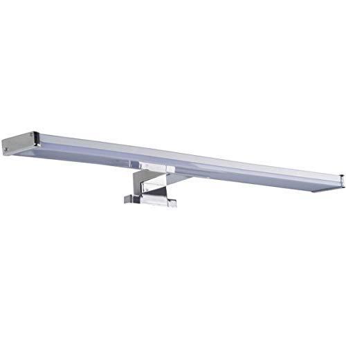 LED Spiegelleuchte BALI S12   Spiegellicht Bad 60 Cm Breit   Aufbauleuchte 960 Lm 12W Chrom Optik Warmweiß  Oktaplex Lighting Mit IP44 Anschlussbox