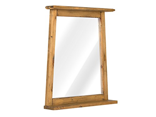 massivum Spiegel 70x78 Rangun Bad Pinie, braun, 12 x 70 x 79 cm