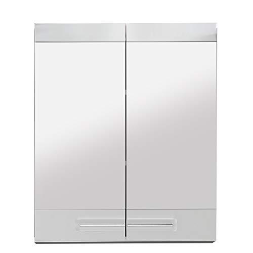 trendteam smart living Badezimmer Spiegelschrank Spiegel Bora , 60 x 71  x 15 cm in Weiß Hochglanz mit viel Stauraum
