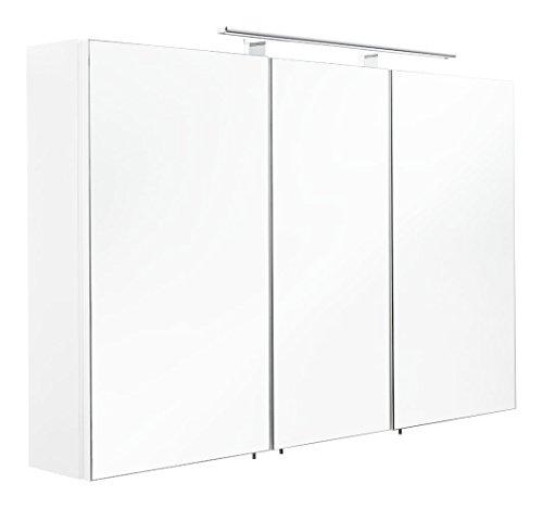 Posseik Spiegelschrank MDF Weiß 110 cm l x 16 cm b x 68 cm h