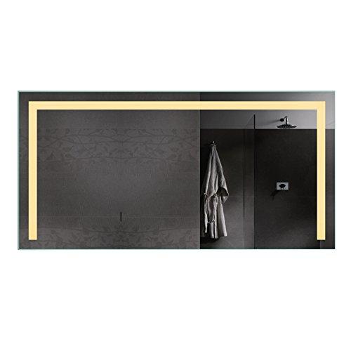 Lux-aqua LED Beleuchtung Badezimmerspiegel Bad Spiegel Kaltweiß Warmweiß und Steckdose TSL140-70