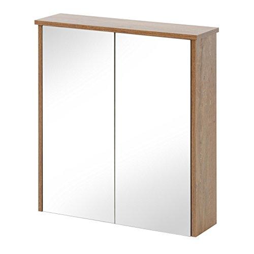 Deco Spiegel 65 cm, Glas, Oak lefkas, 19.0 x 65.0 x 70.0 cm