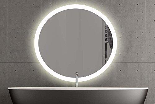 London runder Spiegel mit LED Beleuchtung Badspiegel Zimmer Spiegel Beleuchtet (60cm, Warmweiss)