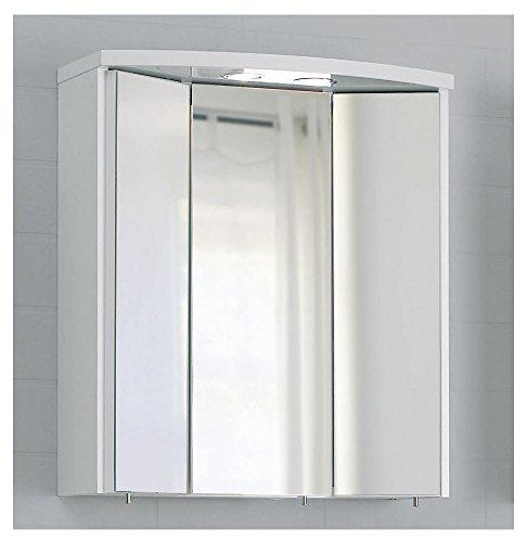 PELIPAL SMALL/MINIMO - SOFORT lieferbar - 3D Spiegelschrank 55 cm, 3-türig, weiß, EEK: A+ (Spektrum A++ - A)