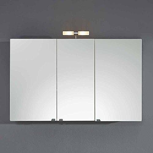 Pharao24 Bad Spiegelschrank in Weiß 110 cm
