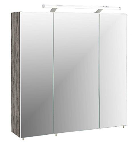 Schildmeyer Spiegelschrank 133076 Trient, 70.0 x 16.0 x 75.0 cm, esche grau Dekor