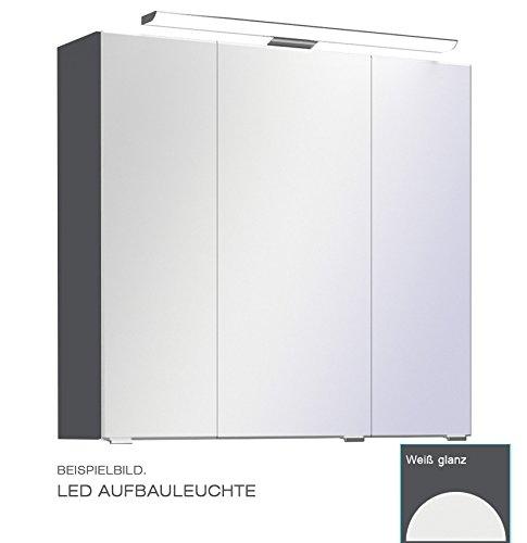 PELIPAL Trentino 770/800 Spiegelschrank/Weiß/LED-Aufbauleuchte / 75 x 70 x 20 cm/EEK: A++