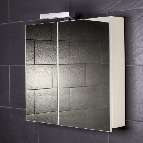 Galdem Spiegelschrank START70 / Spiegelschrank 70 cm / 2 türig/Halogen Beleuchtung/Softclose Funktion/Steckdose/Badezimmer Spiegel auch als Flurspiegel gee