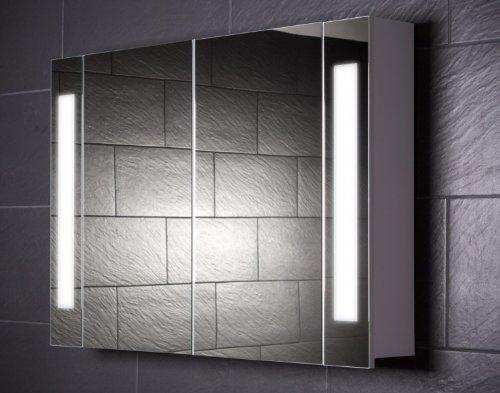 Galdem CURVE100 Spiegelschrank, holz, 100 x 70 x 15 cm, weiß