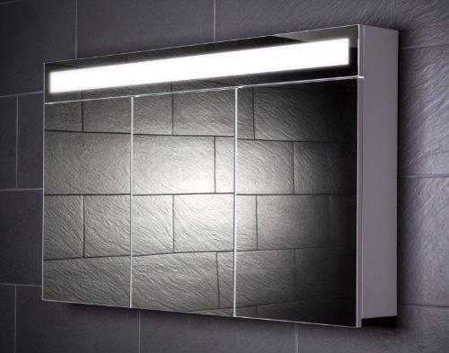 Galdem EVEN120 Spiegelschrank, Holz, 120 x 65 x 15 cm, weiß