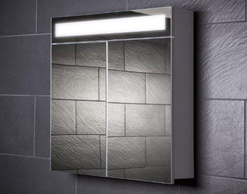 Galdem Spiegelschrank EVEN70 / Badezimmerschrank 70cm / 2 türig/mit Beleuchtung T5 Leuchtstofflampe/Softclose Funktion/Steckdose/Badezimmer Spiegel auch al